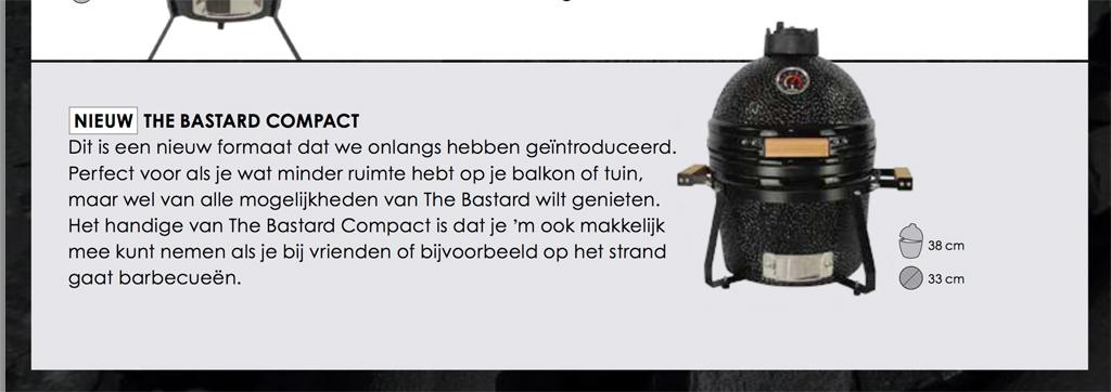 De Black Bastard Compact zou volgens de website makkelijk mee te nemen zijn.
