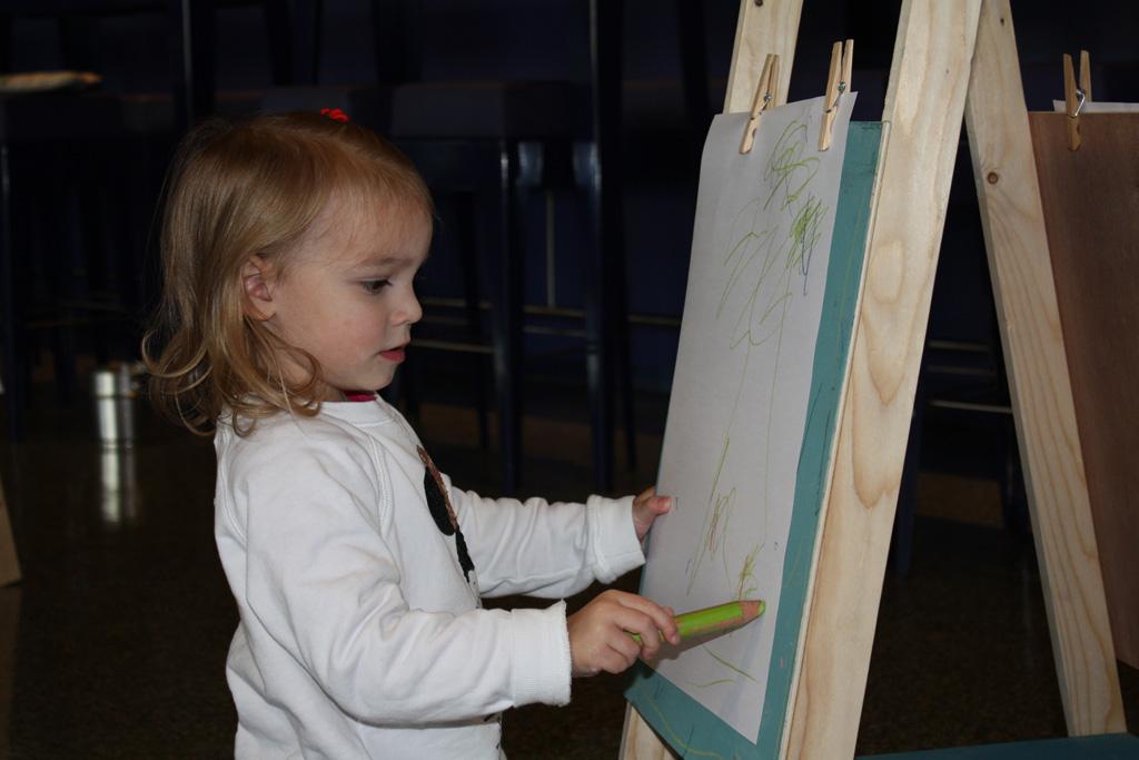 De kleine kunstenaar.