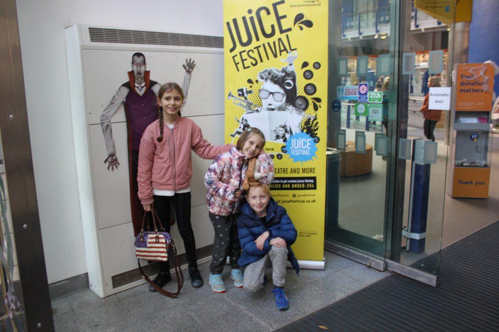 Juice festival Newcastle is erg leuk om met kinderen te bezoeken.