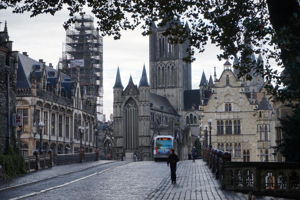 Straatbeeld van Gent