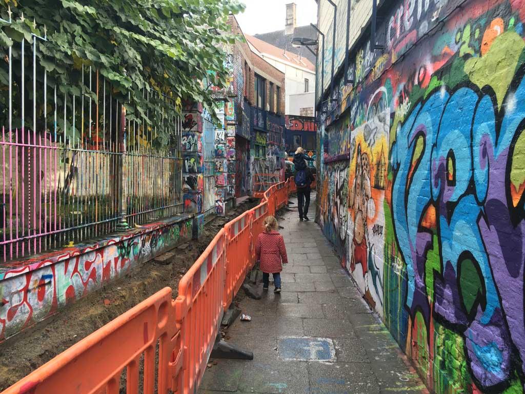 Graffittistraatje van Gent