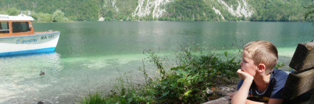 Varen op het meer van Bohinj en met de gondelbaan naar Vogel