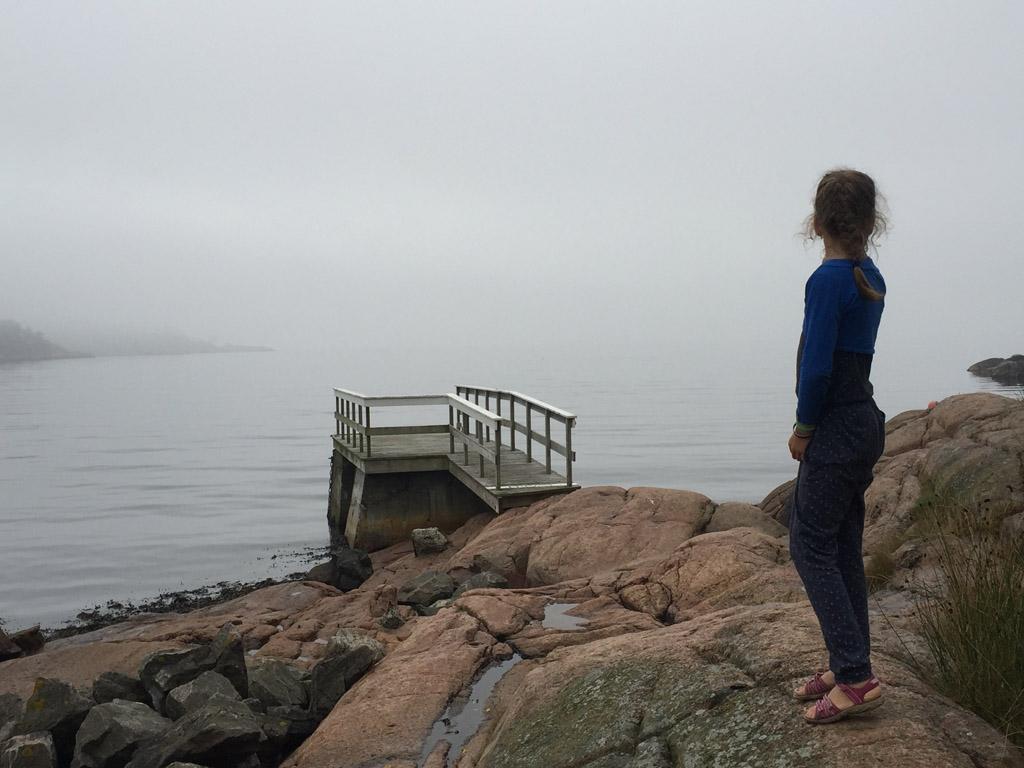 De kust is prachtig, ook op bewolkte dagen.