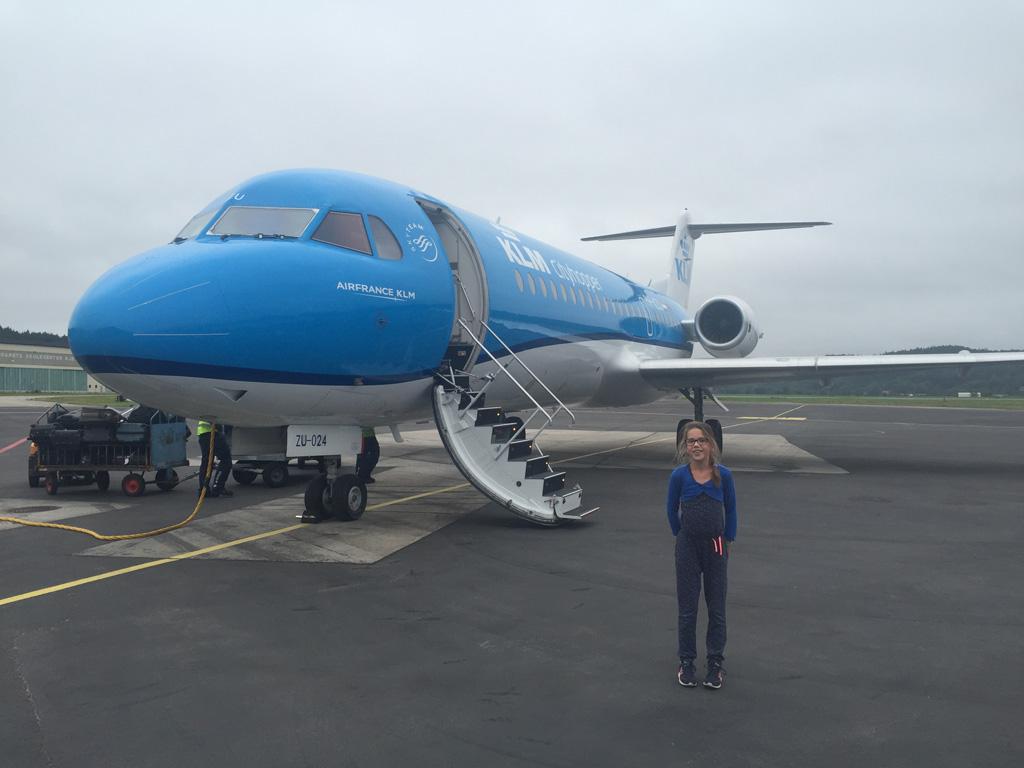 Wij vliegen vanaf Amsterdam naar Kristiansand.