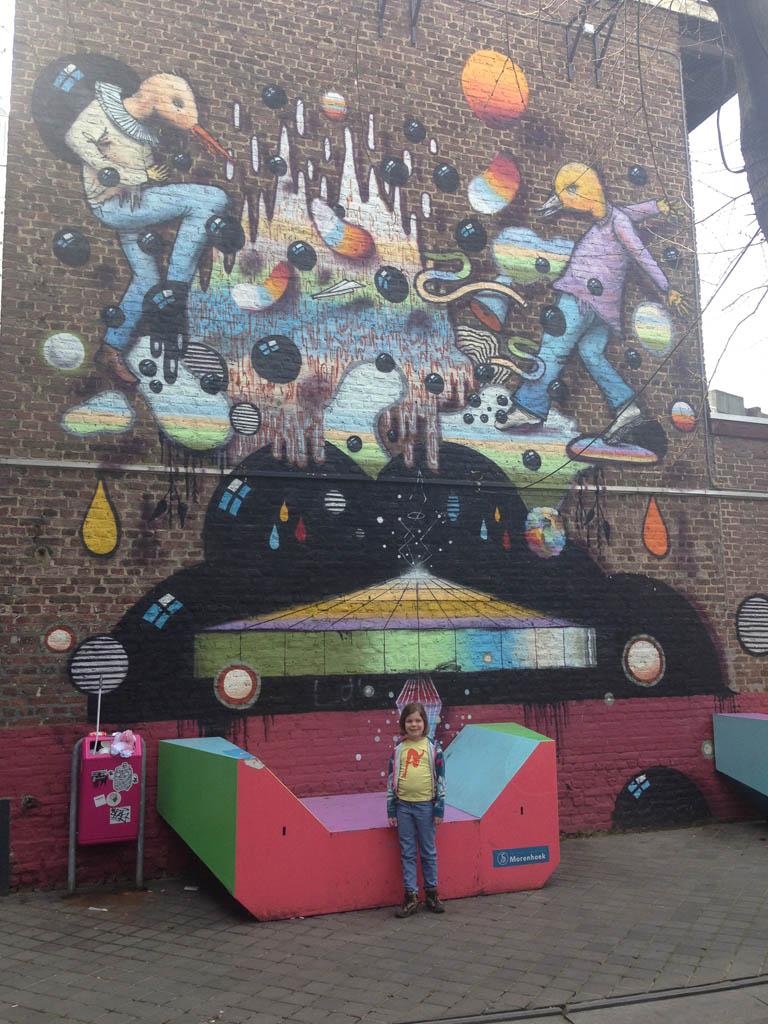 Een van de mooiste Murals vind je in de Morenhoek.