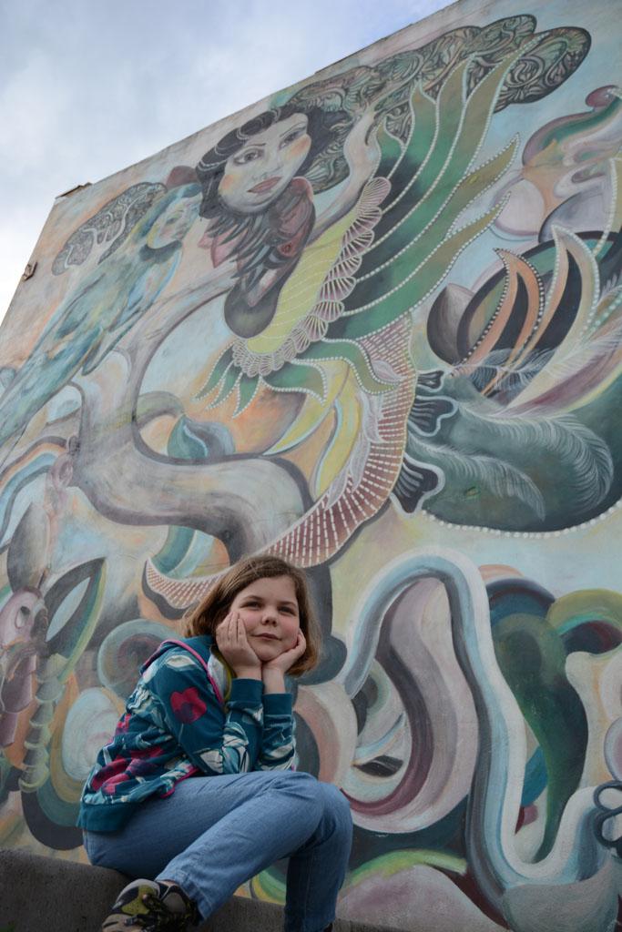 Sommige Murals zijn net een droom tijdens onze stadswandeling in Heerlen.
