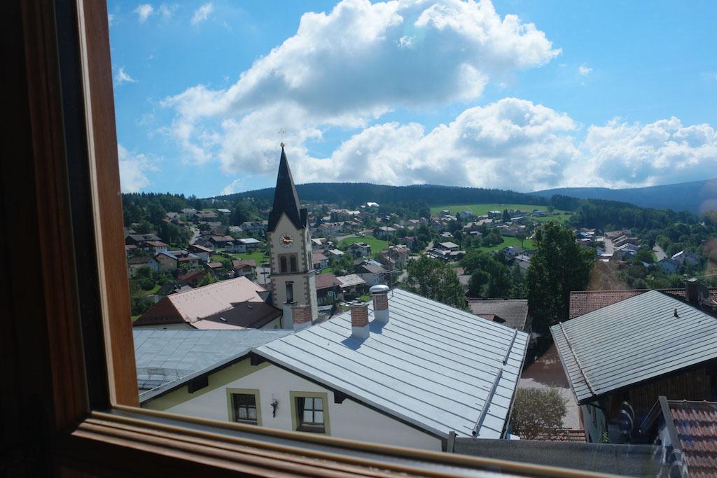 Het uitzicht op Sankt Englmar, later vanuit Bayerwald Xperium.