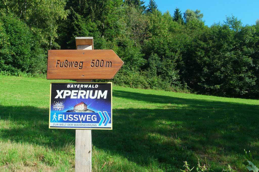 Wandelen naar Bayerwald Xperium.