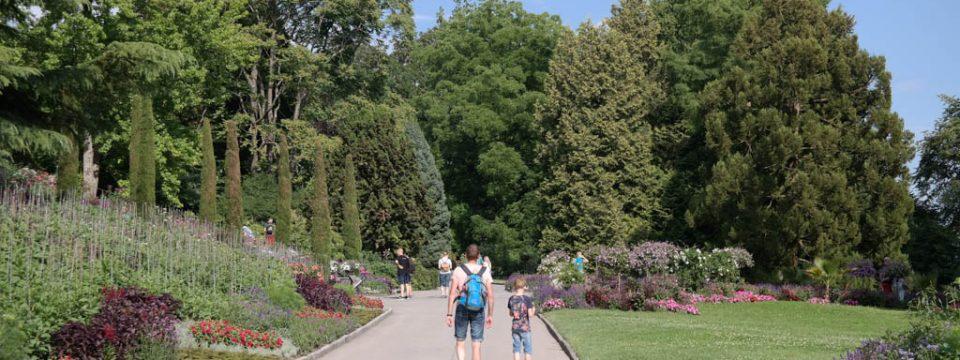 Bloemeneiland Mainau in de Bodensee met kinderen