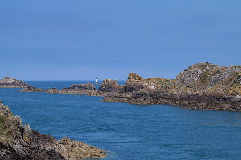 De uiterste westelijke punt bam Bretagne met de vuurtoren.