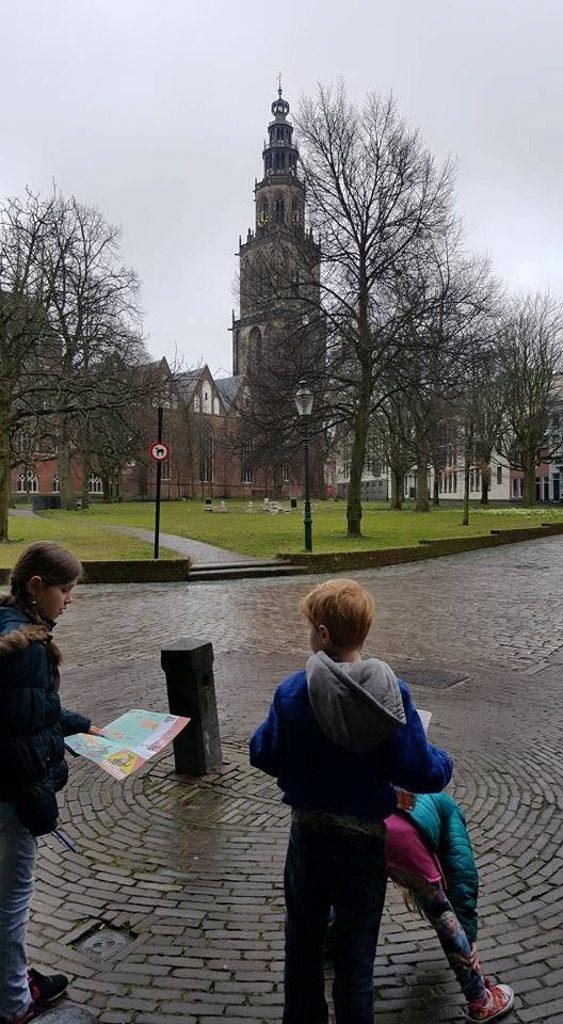 Speuren in Groningen.