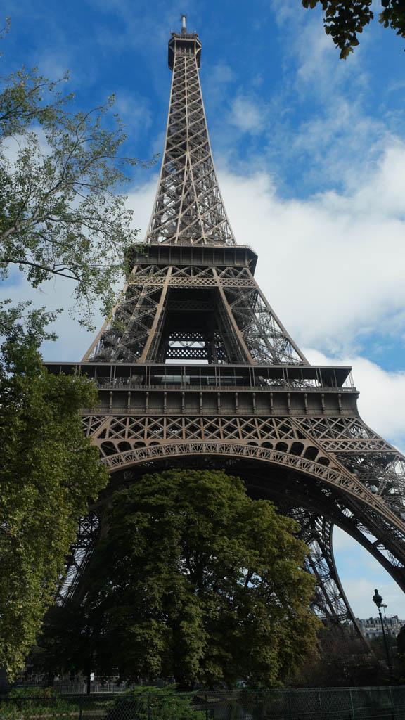 Vlakbij de Eiffeltoren.