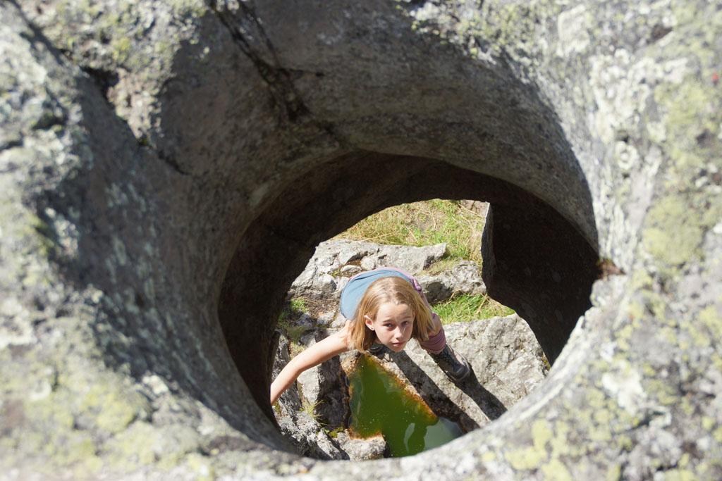 Döda Fallet: Wandelen over de dode waterval.