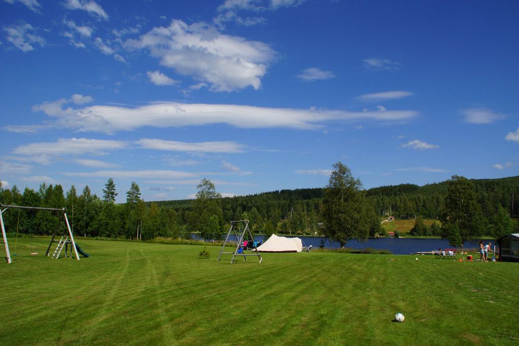 Ons plekje op Jannesland Camping Stugor & Fiske.