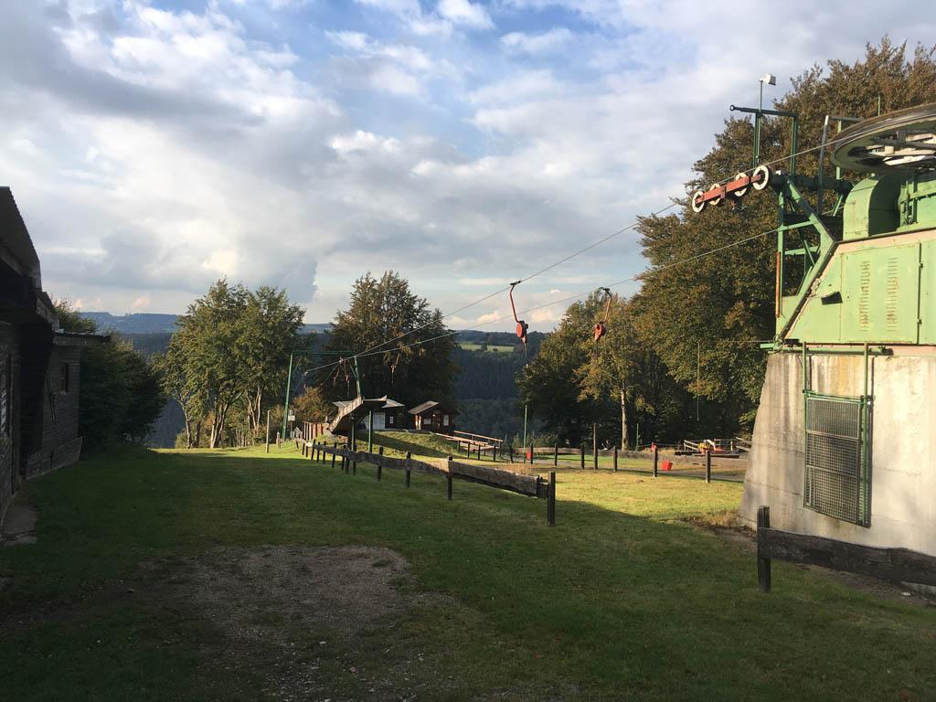 De Sommerrodelbahn bij Rohren.