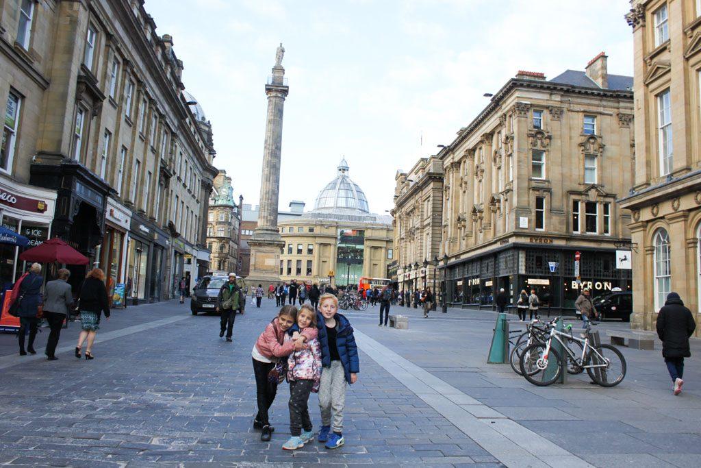 De mooiste winkelstraat van Engeland vind je in Newcastle. Met het markante Grey Monument