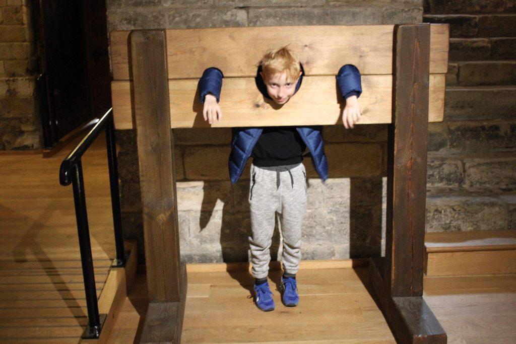 In het kasteel vinden mijn kinderen het reuze spannend.