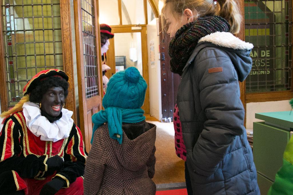Ontmoeting met een van de pieten in Nijmegen.