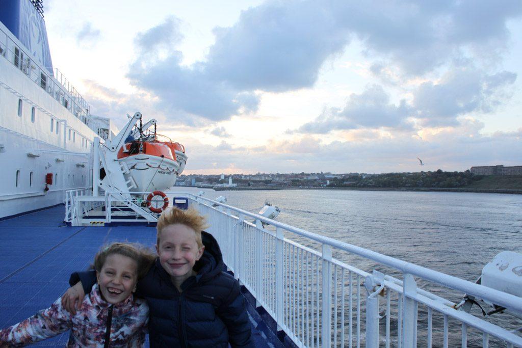 Laatste keer uitwaaien voor we van de boot af gaan.