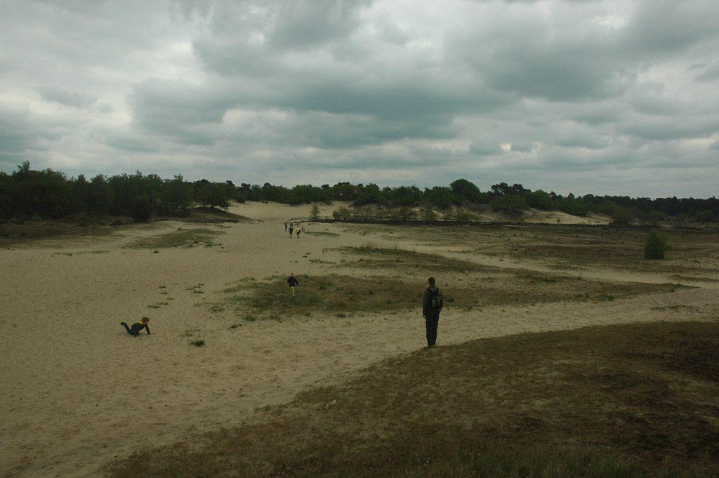 Een indrukwekkende uitgestrekte zandvlakte.