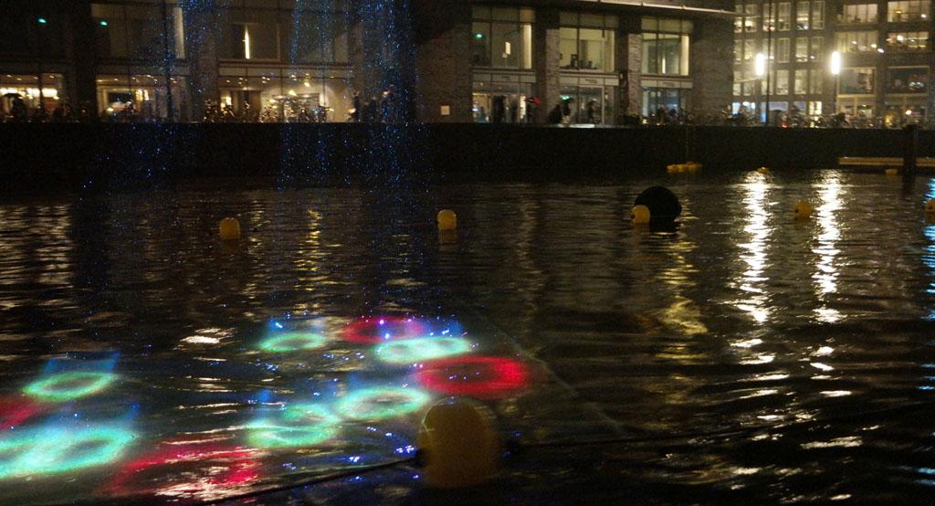 Bijzonder effect met licht in het water.
