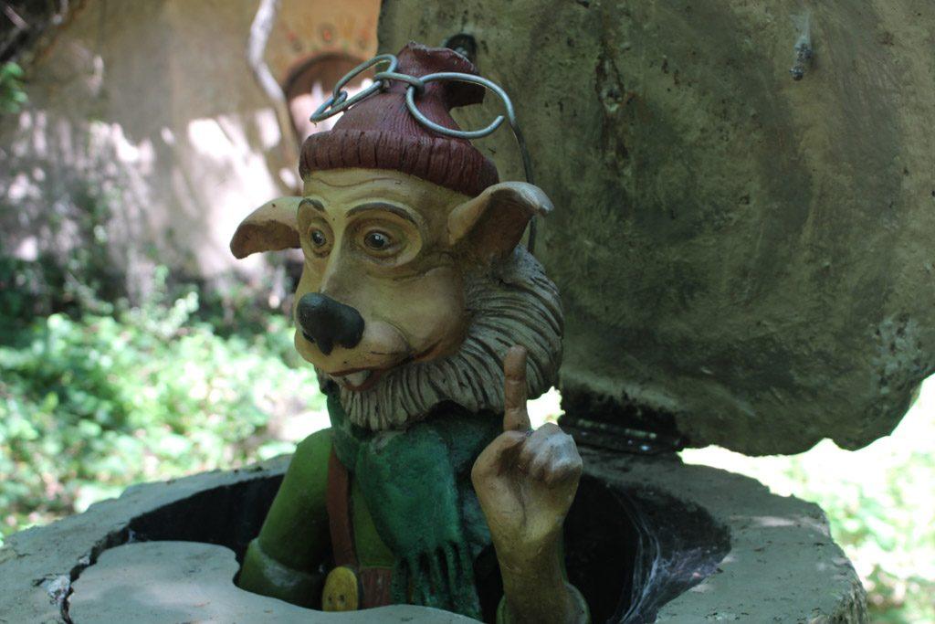 Een van de bewoners van het fantasiebos.