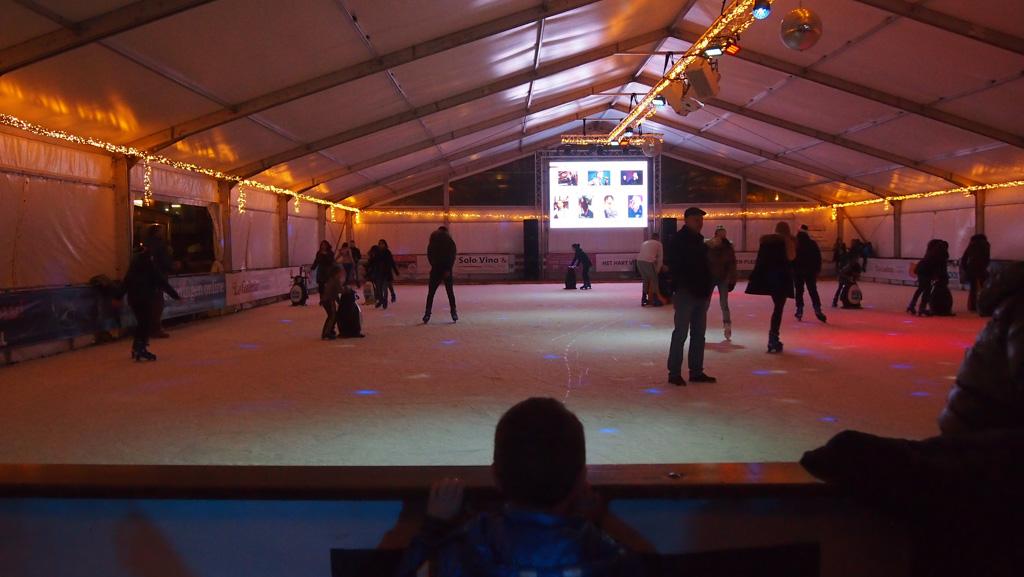 De schaatsbaan.