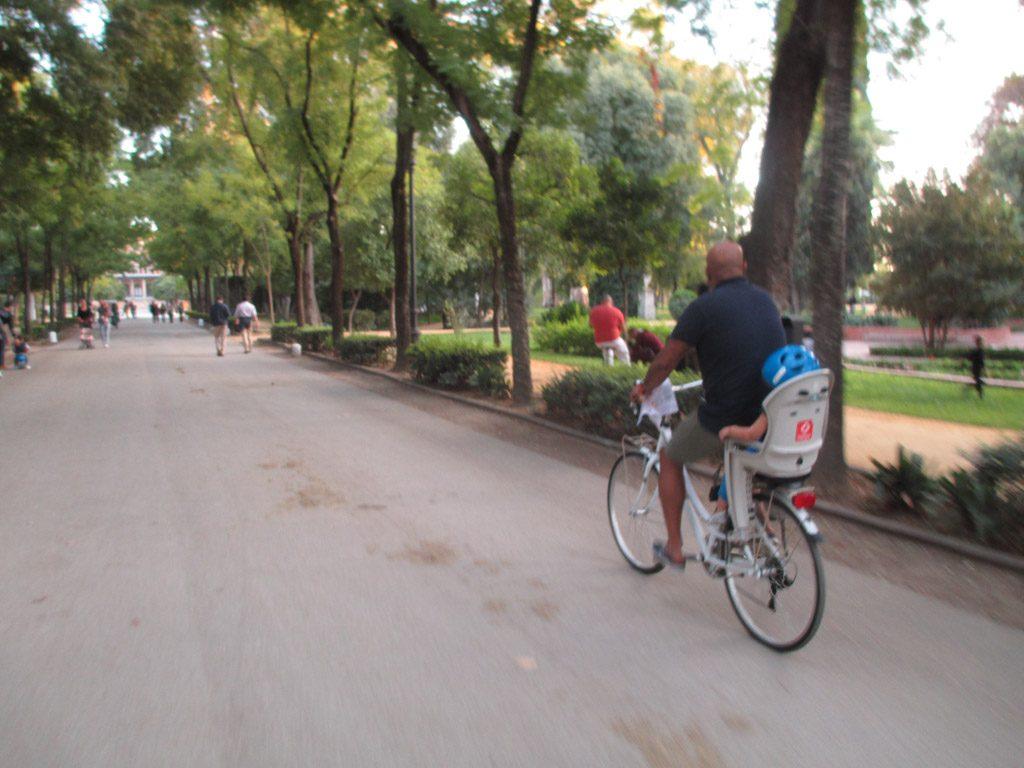 Prachtige brede fietspaden in Marque de Maria Luisa.