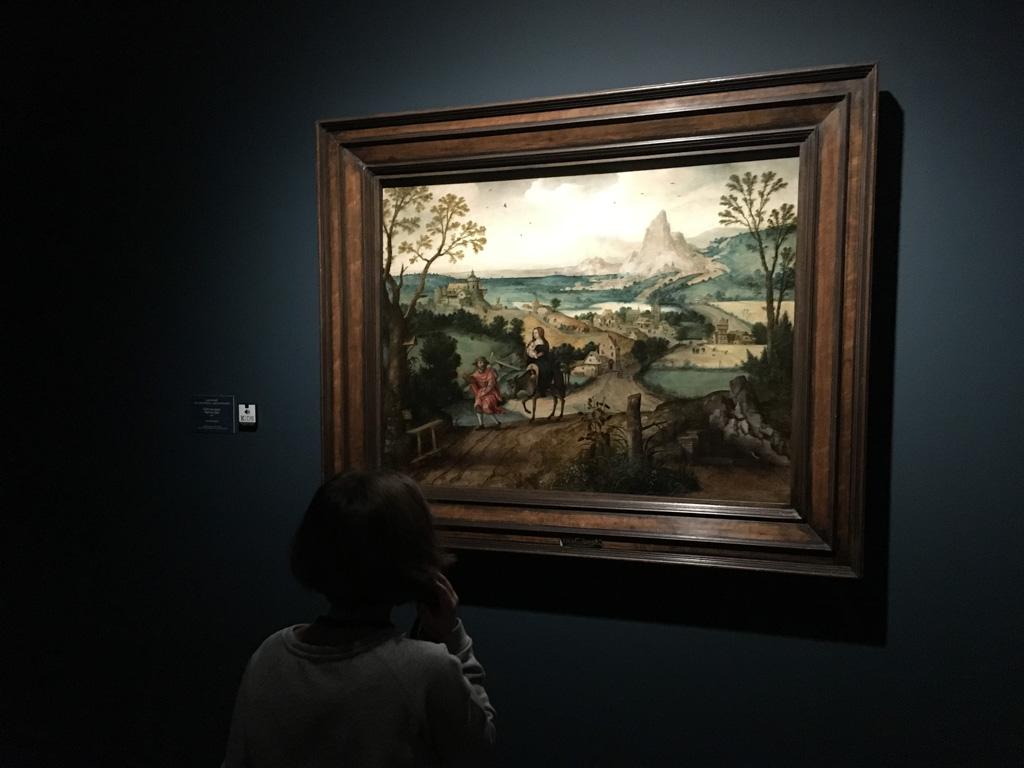 Door de audiotour komt Lieke van alles te weten over het schilderij en de persoon die het maakte