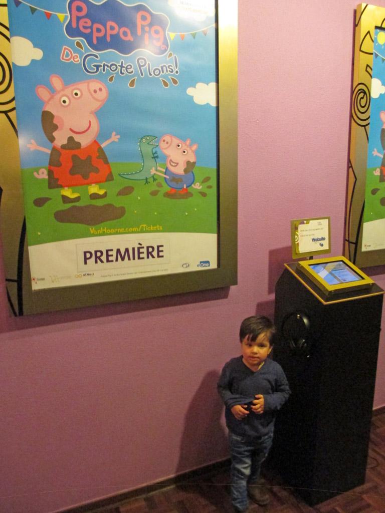 Peppa Pig, die kent hij van tv.