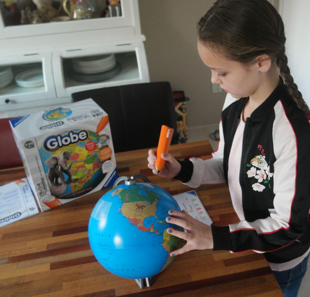 Afhankelijk van het kennisniveau en de leeftijd zijn er steeds nieuwe dingen te ontdekken met de Tiptoi Globe.