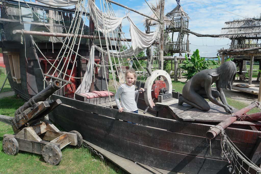 Een echt piratenschip.