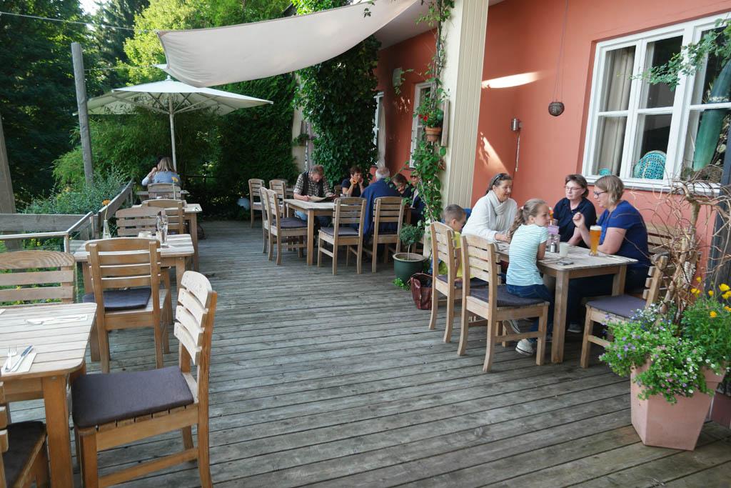 Etentje met de dames van het toeristenbureau van Sankt Englmar en Beieren.