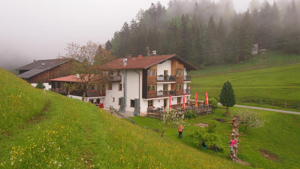 Overnachten in een farmhouse in Salzburgerland.