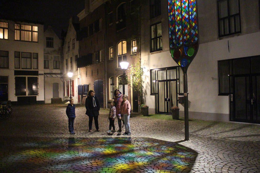 Glas in lood op de grond, in Utrecht kan het.
