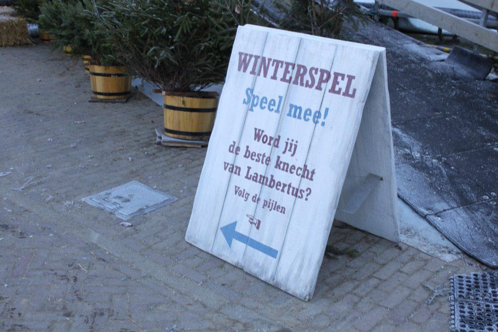 Leuk winterspel in het Openlucht Museum.