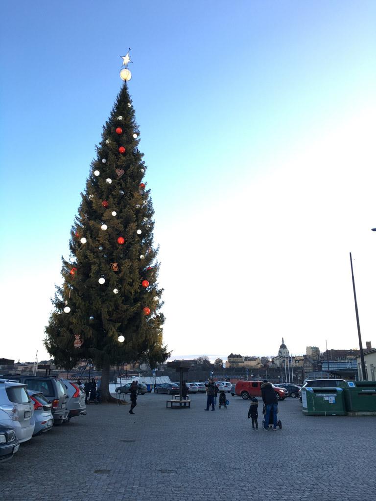De gigantische kerstboom.
