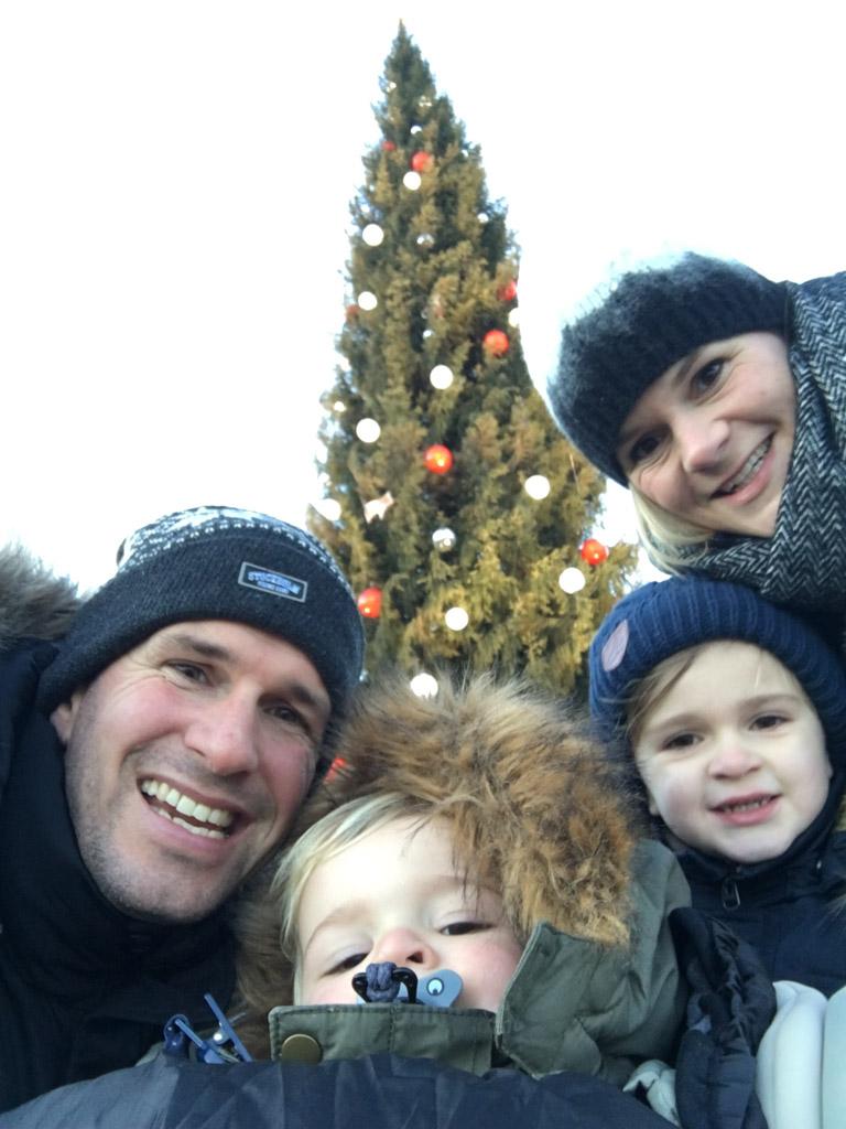 Gezellige family-selfie.