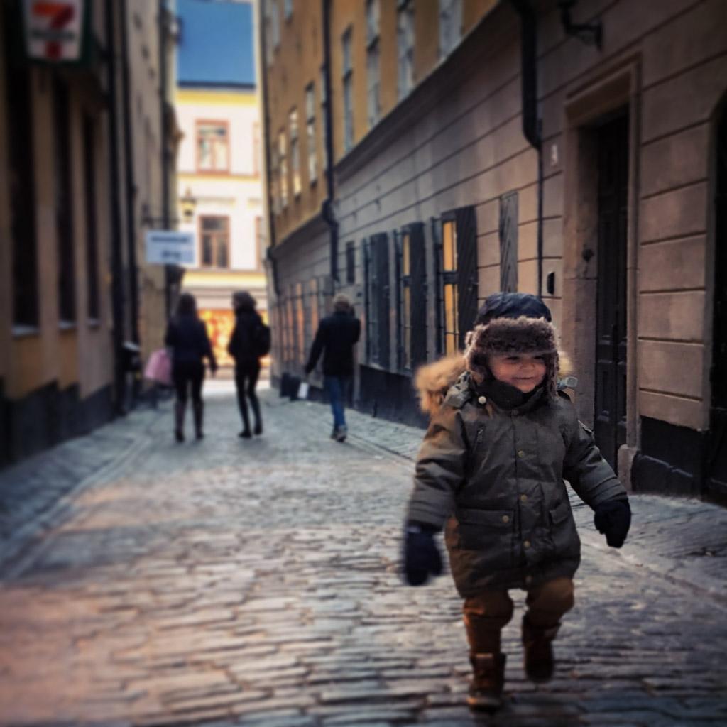 Mats zelf aan de wandel in Stockholm.