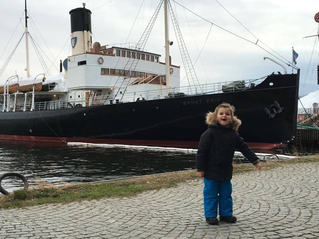 Op weg naar het Vasa Museum.