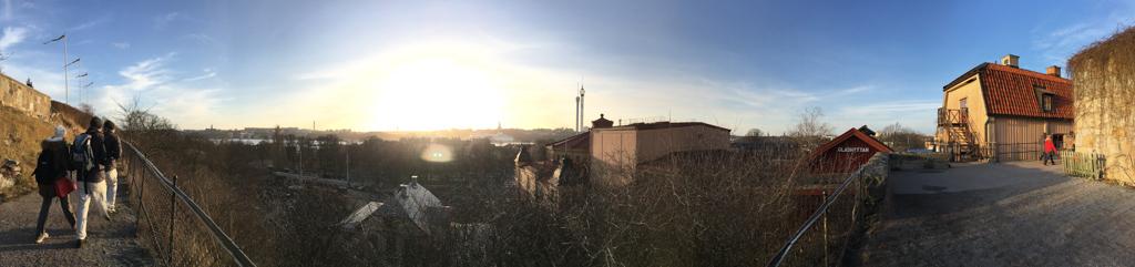 Het uitzicht vanaf Skansen.