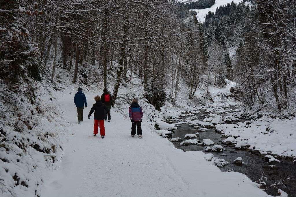 Wandelen langs Breitach in Kleinwalsertal