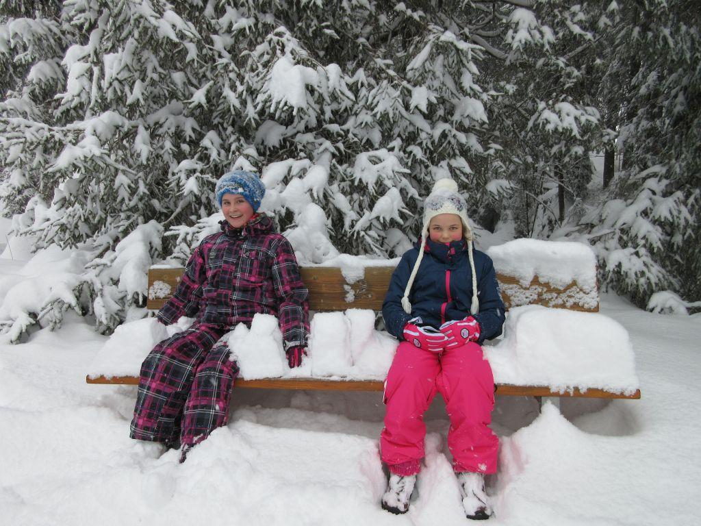 Even uitrusten... natuurlijk ook weer in de sneeuw...