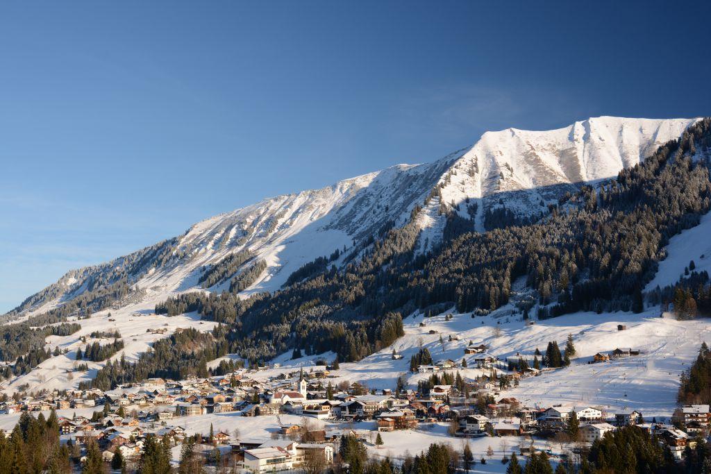 Uitzicht op Riezlern in Kleinwalsertal