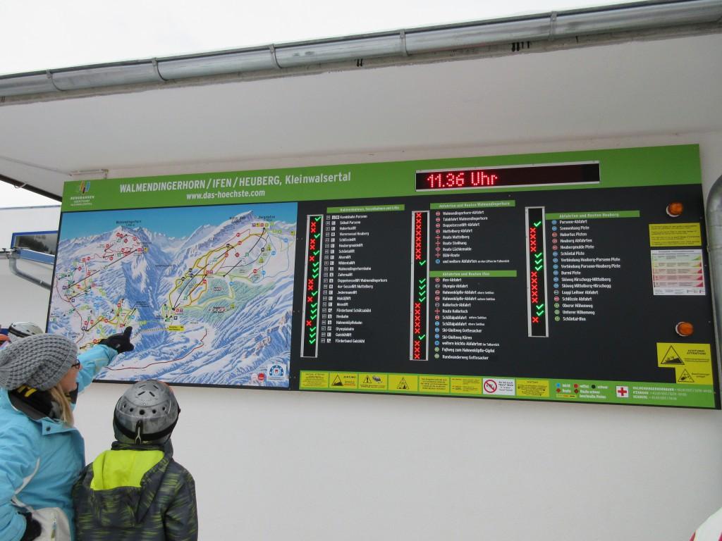 Informatiebord bij Parsenn-lift