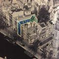 Deze foto en een dwarsdoorsnede van het huis maken duidelijk waar het Achterhuis was.
