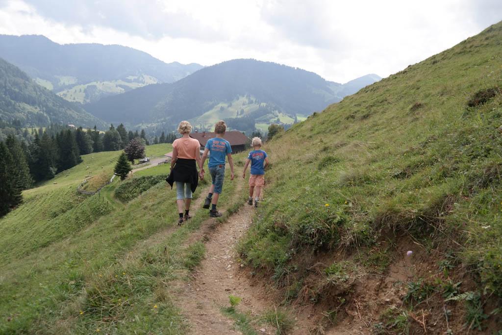 Wandelen in de Duitse Alpen.
