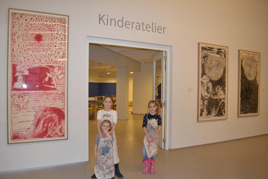 Het kinderatelier in het Cobramuseum