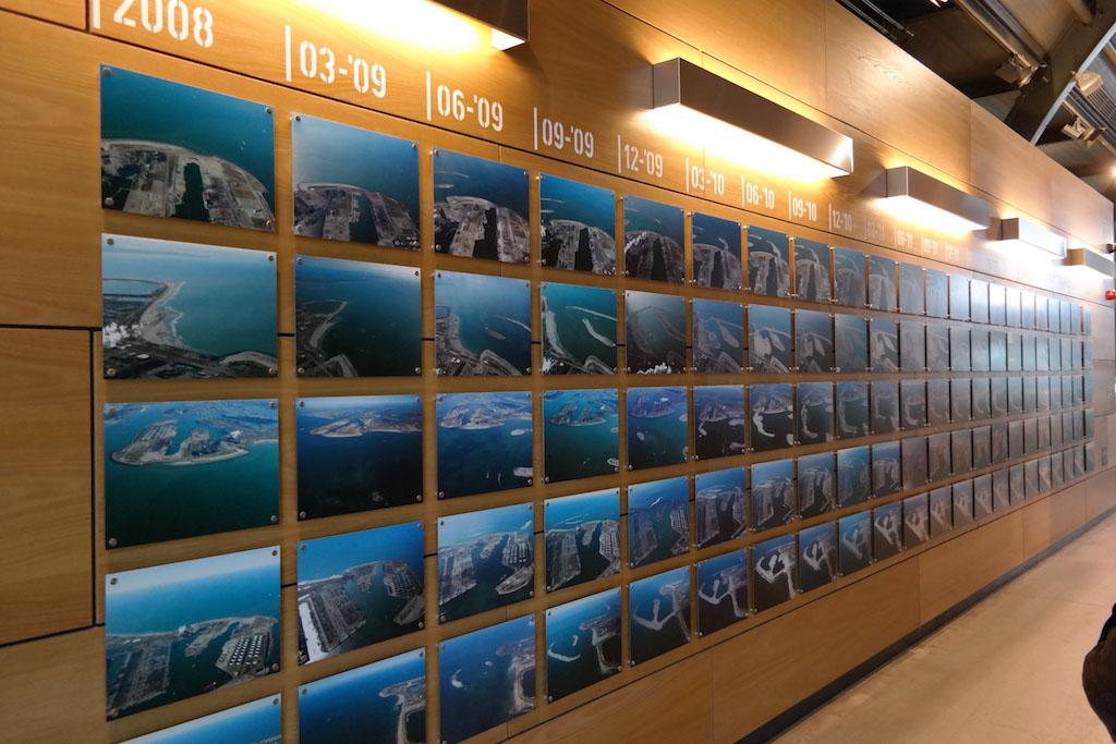 Op de foto's kunnen we zien hoe de aanleg van de Tweede Maasvlakte is gegaan (foto: Suzanne).