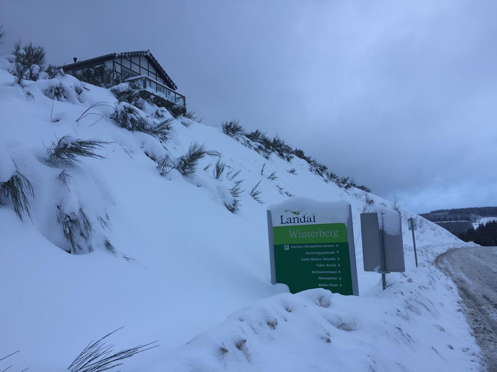Landal Winterberg in de winter.